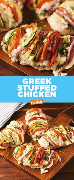 Stuffed Chicken Greek Stuffed Chicken has all of the flavors you love, and none of the guilt. Get the recipe at .Greek Stuffed Chicken has all of the flavors you love, and none of the guilt. Get the recipe at . Healthy Chicken Recipes, Turkey Recipes, Dinner Recipes, Healthy Stuffed Chicken, Greek Recipes, Low Carb Recipes, Cooking Recipes, Candida Recipes, Clean Eating
