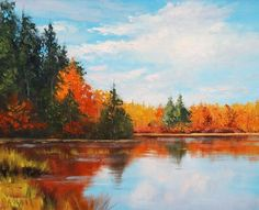 Autumn Reflections Painting by