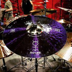 The New Danny Carey signature @paistecymbals ride cymbal! #drums #drum #cymbals #paiste #drummer #drumming #tool #namm #namm2016