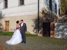 Krásné tylové svatební šaty - 1