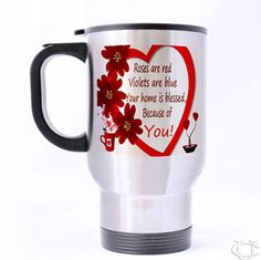 Qutes Valentine Im in love with you Be my Love Travel Mug