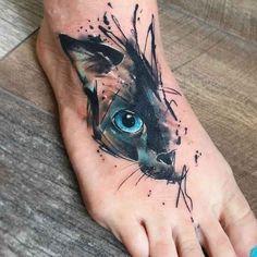Portrait of half portrait of cat portrait - - tattoo - . - Half portrait of cat portrait – – tattoo – # Cat portraits # portraits - Cat Face Tattoos, Cat Portrait Tattoos, Black Cat Tattoos, Animal Tattoos, Body Art Tattoos, Sleeve Tattoos, Unique Tattoos, Beautiful Tattoos, Small Tattoos
