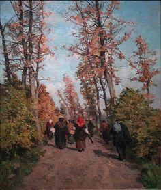 Return from the Market - Isidore Verheyden (1846-1905)