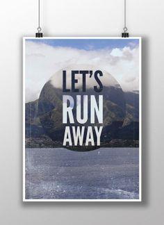 """Let's run away!"" by Ja Cię Broszę! on ezebee.com"
