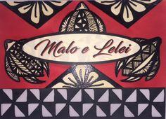 Malo e Lelei, Hello/Greetings in Tongan! Tonga, Tongan Card, Polynesian,  Handcrafted,  Embossed, Die-cut, 5'x7'inch landscape, 300gsm cardstock, Acid free.
