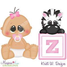 Alphabet Baby~Z SVG Cutting Files Includes Clipart