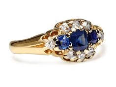 Lighting Up an Edwardian Diamond Sapphire Ring - The Three Graces.      I think a vintage ring would be beautiful:)))