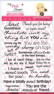 """Sweet"" Sentiments. I came, I saw, I created.: Exploring My Pink Stamper's New Stamp Set: Sweet Goodness"