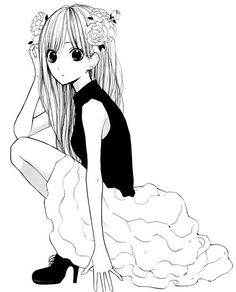 I like her pose here...and the little decor in her hair. Beautiful!! Hanagimi to Koisuru Watashi