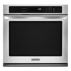 """KitchenAid® 30"""" Electric Convection Wall Oven - Stainless Steel"""