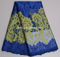 Check out this product on Alibaba.com App:Flowers Pattern Mesh French Lace Fabric Royal Blue Yellow Net Swiss Lace Fabric XZ2425b https://m.alibaba.com/BraMny