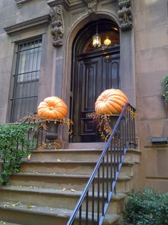 Pumpkins. Autumn Decorating, Porch Decorating, Diy Projects For Fall, Giant Pumpkin, Pumpkin Topiary, Large Pumpkin, A New York Minute, Fall Containers, Autumn Home
