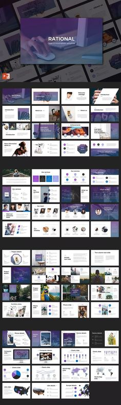 Rational PowerPoint Template by GrizzlyDesign on Envato Elements Company Presentation, Corporate Presentation, Presentation Layout, Power Point Presentation, Powerpoint Presentation Ideas, Portfolio Presentation, Project Presentation, Powerpoint Examples, Powerpoint Slide Designs