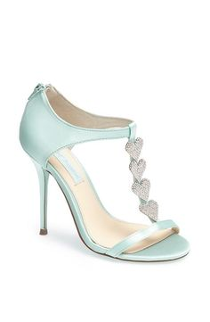 Betsey Johnson Mint, Sparkle Heart Sandal. Love the color.