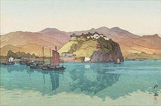 "Japanese Art Print ""Koko (Hukow, China)"" by Yoshida Hiroshi. Shin Hanga and Art Reproductions http://www.amazon.com/dp/B00Y0INB0E/ref=cm_sw_r_pi_dp_Qh9twb11PWHX6"