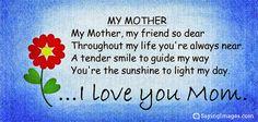my mom my friend poem - Google Search