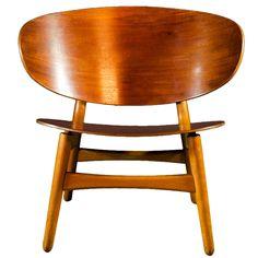 Beautifull Shell Chair, Hans Wegner for fritz Hansen. denmark 1948