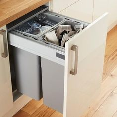 64L Integrated Recycling Bin | Kitchen Waste Management | Kitchen Accessories | Howdens Joinery