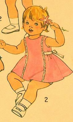 Baby/Toddler Dress and Coat Hat Sewing Pattern UNCUT Simplicity 7323 Size1