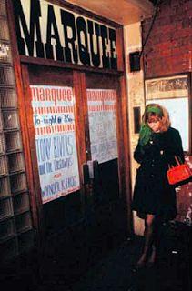Mod Girl 1966-'68 at  THE MARQUEE CLUB, Wardour Street. CASTAWAYS & WYNDER K. FROG playing!