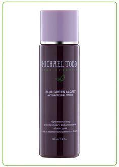 Michael Todd Organics BLUE GREEN ALGAE TONER - antibacterial toner, aids in treatment and prevention of acne
