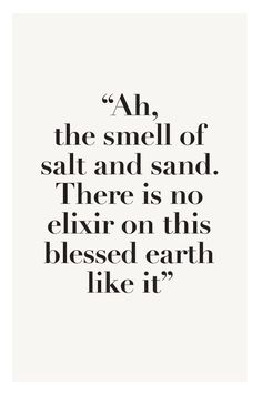 The smell of salt and sand... Hello Summer.