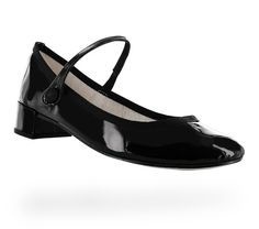Rose Mary Jane Black Patent leather