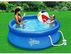 Enjoy Backyard Ocean's easy-set Float-to-Fill 9 foot by 26 inch ring pool package this summer! This Quick-Set Ring Pool Package has everything you need to set up and have a great time in your above ground pool!
