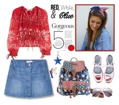 """Red, White and Blue Fashion"" by yours-styling-best-friend ❤ liked on Polyvore featuring MANGO, Chiara Ferragni, Etro and STELLA McCARTNEY"