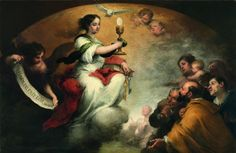 El triunfo de la Eucaristía, Bartolomé Esteban Murillo, Óleo sobre tela, 165 x 251 cm, Oxfordshire, Faringdon Collection, Buscot Park