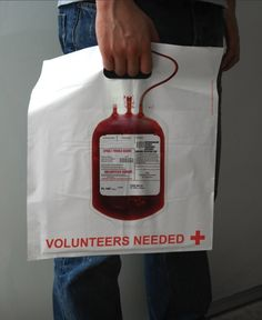 Great bag, even if it makes me want to pass out: Red Cross promo bag by Lem, Shanghai, China