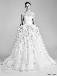 viktor and rolf spring 2018 bridal cap strapless sweetheart drop waist ball gown wedding dress embellished skirt (12) mv romantic -- Viktor