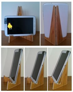 Wooden tablet stand #woodworking