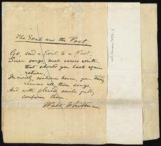 The Soul and the Poet - Walt Whitman manuscript (Boston Public Library)