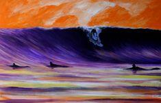 surf art by Robb Havassy Jazz Art, Surfing Pictures, Surfboard Art, Vintage Surf, Surf Art, Surf Style, Surfs Up, Beach Art, Medium Art
