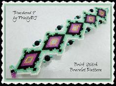 BP-BR-136a Powdered 2 Shaped Brick Stitch Beadwork di TrinityDJ