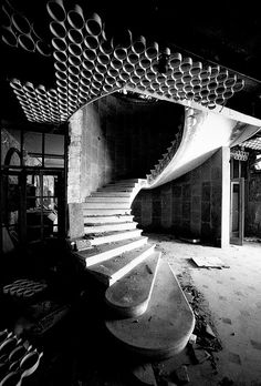 The abandoned Hotel Grand, Kupari, Croatia.