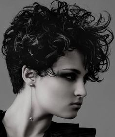 Very short curly haircuts for women