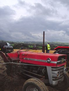 We went to a ploughin' match in darkest North Cornwall and this old beast was there.