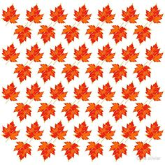 'maple leaf pattern' by Chris olivier Framed Prints, Canvas Prints, Art Prints, Dresses With Leggings, Wall Tapestry, Decorative Throw Pillows, Chiffon Tops, Artists, Wall Art