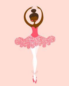 sweet little brown ballerina