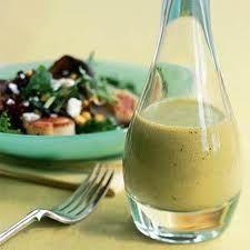 Vanilla Pear Vinagrette (with distilled white vinegar instead of white wine vinegar)
