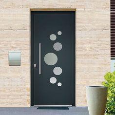 porte d entrée aluminium emalu vermont disponible en gris ou