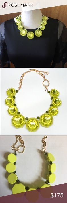 "🎉Just In🎉 Gorgeous LEA Necklace Lea is a one of a kind Octagon shaped plexiglass necklace.  19.5"" long with 2"" extension. Made in Italy. Color is Lime. Diana Broussard Jewelry Necklaces"