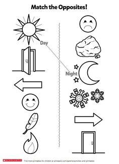 English Worksheets For Kindergarten, Printable Preschool Worksheets, Kindergarten Lessons, Kindergarten Reading, Tracing Worksheets, Matching Worksheets, Free Printable, Free Worksheets, Printable Templates