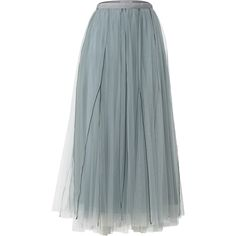 Sensitive Transparency Tulle Skirt | Moda Operandi ($675) ❤ liked on Polyvore featuring skirts, high waisted tulle skirt, sheer skirt, high rise skirts, transparent skirt and high-waist skirt