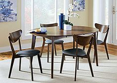 Walnut Dining Table w/6 Chairs, /category/dining-room/walnut-dining-table-w-6-chairs-5.html 42 inches, removable leaf
