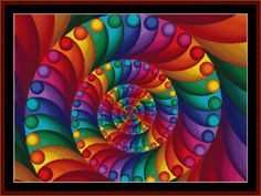 Cross Stitch Collectibles - Detail1 - FR-07.1 - Fractal 007 - All cross stitch patterns - Abstract cross stitch patterns - Fractals cross stitch patterns - Graphic Art cross stitch patterns - New Editions cross stitch patterns - Cross Stitch Collectibles