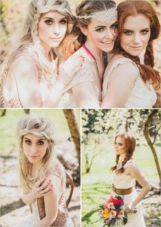 feather and leather wedding inspiration | Many projects for this shoot were fun and easy DIY projects…