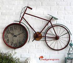 Dev Boyutlu Retro Bisiklet Duvar Saati in 2020 Wall Decor Design, Wall Clock Design, Wall Clock Decor, Unique Wall Clocks, Unique Wall Decor, Cheap Home Decor, Diy Home Decor, Bicycle Decor, Diy Clock